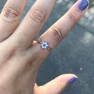 Pandora Forget me not ring NWOT
